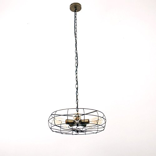 Unitary Brand Antique Bronze Rustic Metal Hanging Ceiling Chandelier Max. 200W with 5 Bulb Sockets Bronze Finish