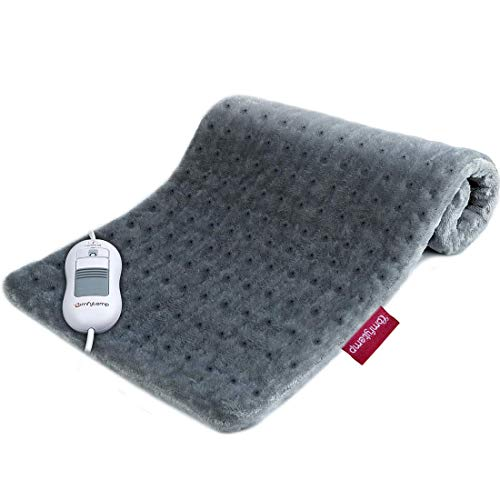 Heating Pad, Comfytemp XL 12 x 24 Inch Electric Heating Pad for Pain Relief, Soft Flannel Heating Compress with Auto Shut Off, 3 Heat Settings, Moist Heat for Cramps, Back, Neck, Shoulders - Washable