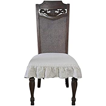 Amazon Com 100 Flax Linen Dining Room Chair Seat Cover