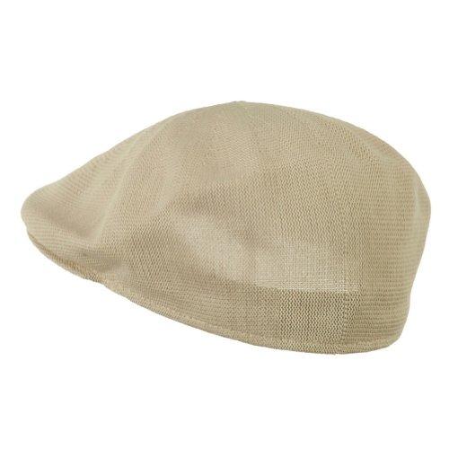 Mens Tan Khaki Knitted Golf Gatsby Ascot Newsboy Cap by Q Headwear (Image #1)