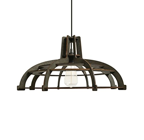 Farmhouse chandelier for kitchen, living room, bedroom - Wood pendant lighting for rustic, modern, contemporary, minimalistic interior styles - Black/dark brown hanging lamp original - House Chandelier Light Lighting Provence