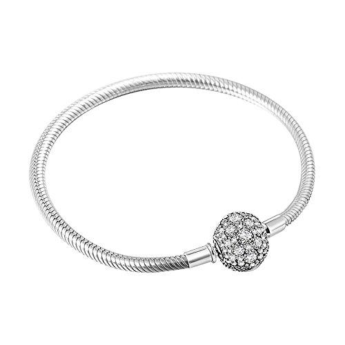Crystal 925 Silver Bracelet - 8