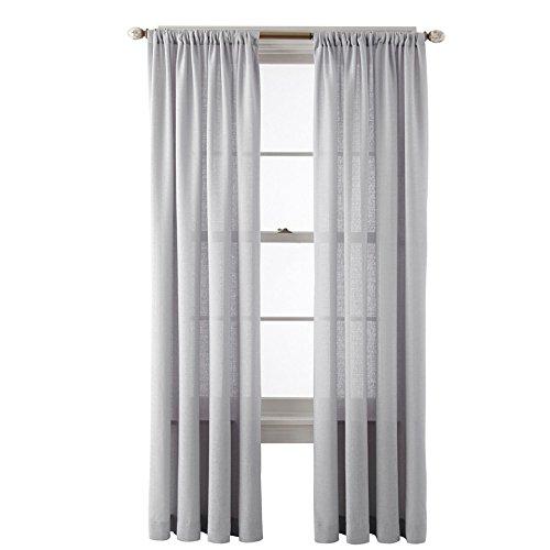 """Royal Velvet SADLER Rod Pocket Curtain Panel A Pair of 2 Panels (Light Gray, 50″x""""84)"""