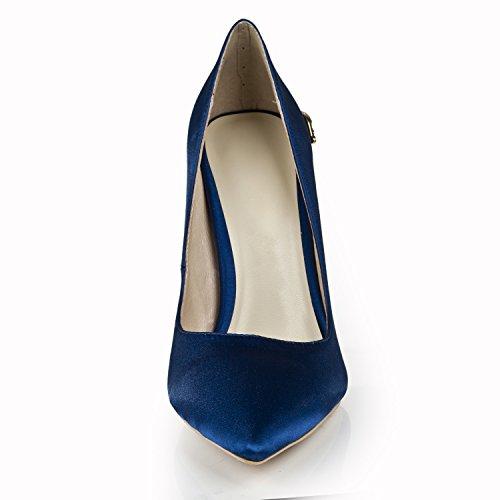 Minitoo ,  Damen Durchgängies Plateau Sandalen mit Keilabsatz Tiefblau