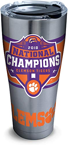 Celebrate the Clemson Tigers winning the 2018 NCAA National Championship!  Show off your team spirit with this stainless steel tumbler.
