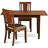 East West Furniture 3-Piece Kitchen Nook Dining Table Set