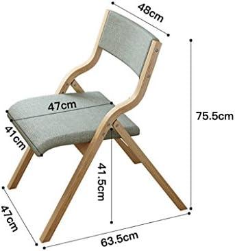 MXXYZ Chaise Pliante Chaises empilables Tissu Truss Chaise Pliante Chaise à Manger Chaise d'ordinateur rétro Chaise en Bois courbé Bureau et Chaise créative