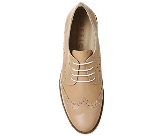 Lace Office Fudge Brogues Leather Up Nude BT5wT7q
