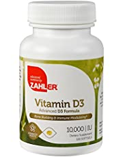 Zahler Vitamin D3 10,000 IU, an All-Natural Supplement Supporting Bone Muscle Teeth and Immune System, Certified Kosher, 120 Softgels
