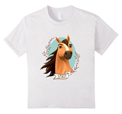 Tee Free Shirts (Kids DreamWorks Spirit Riding Free - Spirit T-Shirt 4 White)
