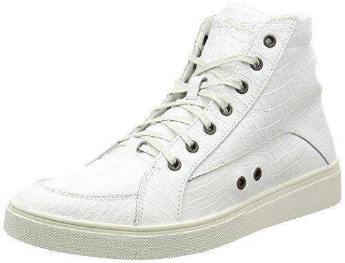 Diesel Hombres Mid Blanco S-Groove Hi-Top Zapatillas