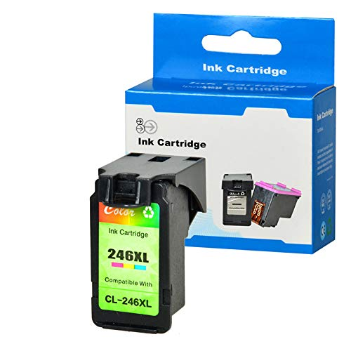 SuperInk Remanufactured Ink Cartridge Replacement for CL-246 246XL CL-246XL (1 Color) Compatible with PIXMA iP2820 MG2420 MG2520 MG2555 MG2920 MG2922 MG2924 MG3020 MX490 MX492