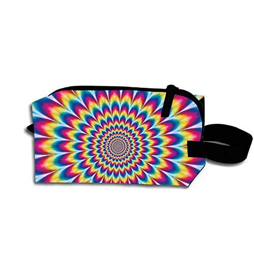 (Multi-functional Small Hand-Held Pencil Bag Coin Purse Storage Travel Cosmetic Bag (Vertigo Color))