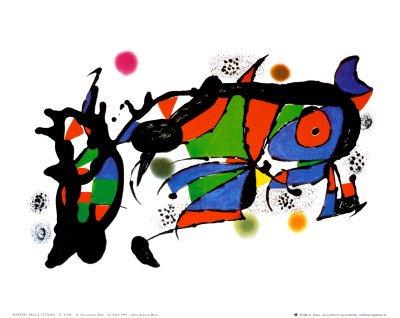 Obra de Joan Miro Art Poster Print by Joan Miró, 12x10