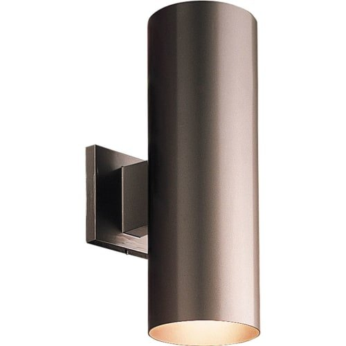 Progress Lighting P5675-20 5-Inch Up/Down Cylinder with Heavy Duty Aluminum Construction and Die Cast Wall Bracket Powder Coated Finish UL Listed For Wet Locations, Antique Bronze - Bronze Finish Outdoor Bracket