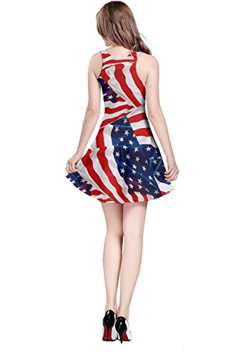 Stati Americana Nazionale Bandiera Jewery Xs Senza Bandiera 5xl Costume Perla Maniche Womens 3 Uniti Cosplay Cowcow Partito Diamante Abito Giornata OBqInx6t