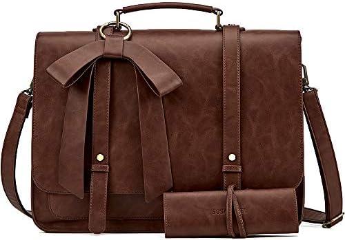 SOSATCHEL Briefcase Leather Crossbody Shoulder