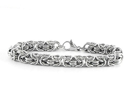 Stainless Steel Bracelet, 11th Anniversary Wedding Gift for Wife - Jewelry for Women & Men by ChainMettle - Usa Online Shops
