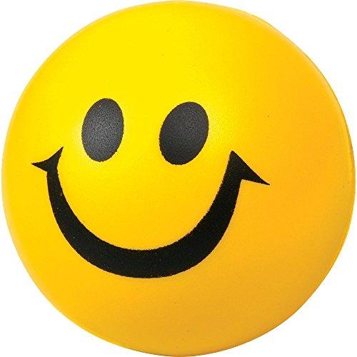 SODIAL(R) Balle rebondissante de face souriant jaune