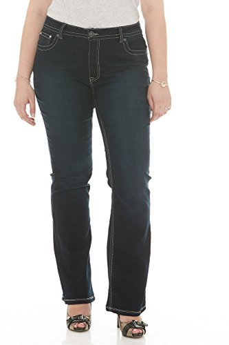 Suko Jeans Womens Power Stretch Boot Cut Jeans 17324 Blue Black 14 - Power Stretch Bootcut Pant