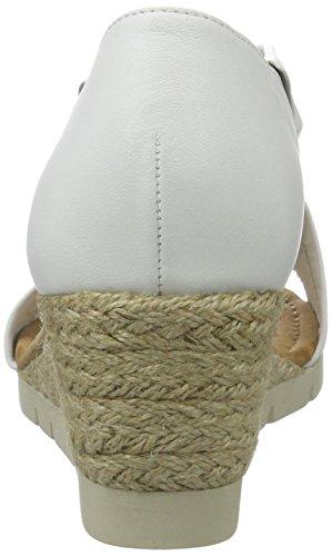 Gabor Plateau Signore Comfort, Bianco Bianco (bianco (juta) 50)