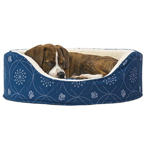 Furhaven Pet – Traditional Orthopedic Foam Mattress Dog Bed and Calming Anti-Anxiety Round Oval Nest Cuddler Dog Bed for…