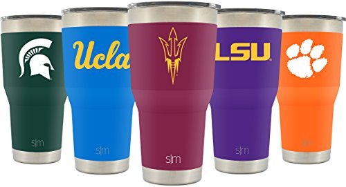 Simple Modern Arizona State University 30oz Cruiser Tumbler - Vacuum Insulated Stainless Steel Travel Mug - ASU Sun Devils Tailgating Hydro Cup College Flask - University (Arizona State University Colors)