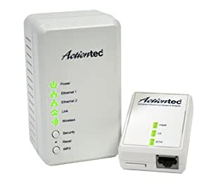 Actiontec Wireless Network Extender Plus Powerline Network Adapter 500 Kit (PWR51WK01)