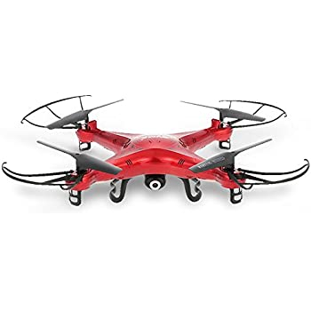 SYMA X5C Drone with 2.0MP HD Camera 3D Flips & High/Low Speed & Left/Right Mode Exclusive Red Color RC Quadcopter