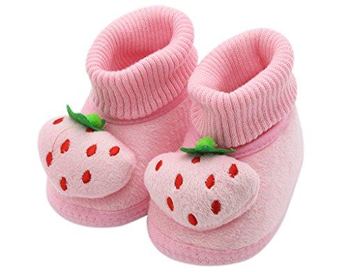 BONAMART ® Baby Junge Mädchen Karikatur Schuhe Anti Rutsch Winter Puschen 0-6M RosaErdbeere