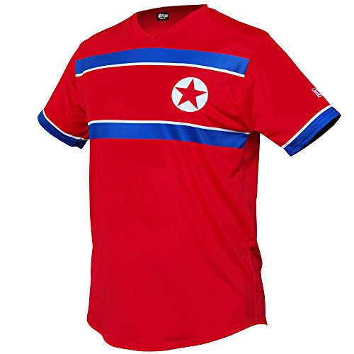 North Korea Star Soccer Jersey-Red-Adult X-Large