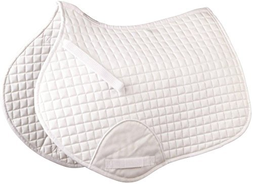 (Roma Mini Quilt Shaped Saddle Pad - WHITE)