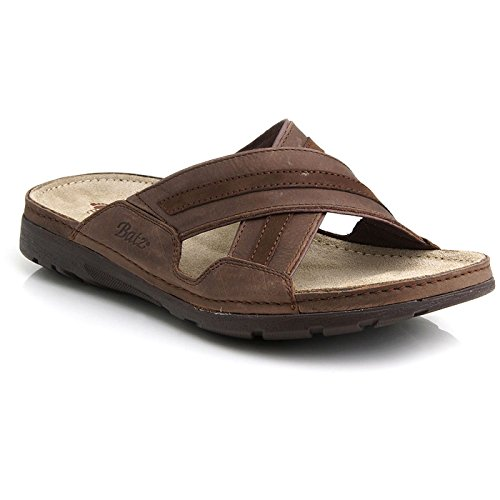 (BATZ Alex Handmade Leather Mens Slip-on Sandals Clogs Mules, Brown, 43 EU (10 M US Men))