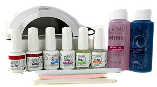 Gelish Mini Gel Soak Off Nail Polish Full Package Kit - Incl