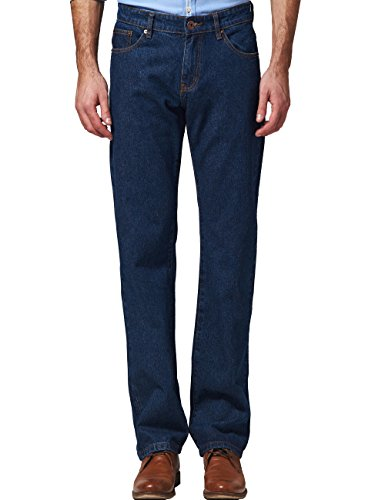 SSLR Pantalones Vaqueros para Hombre Recto Regular Clásico Cowboy Jean Azul