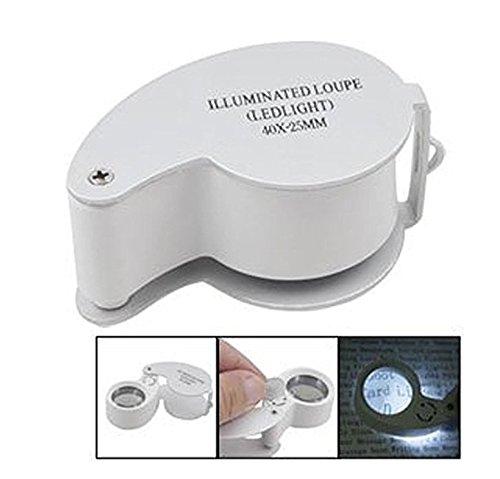 Occhiale da sole illuminato Jewelers 40x-25mm con illuminazione a led Xiton