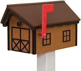 product image for Recycled Poly Plastic Barn Mailbox USA Handmade (Tudor & Black)