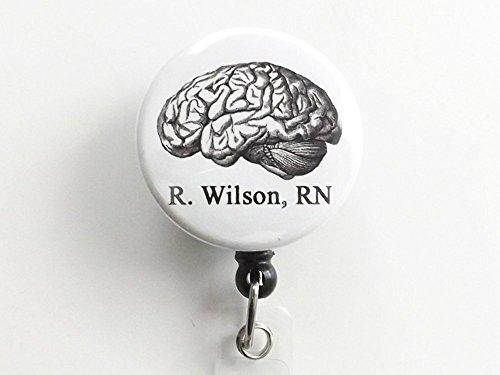 [Custom Anatomy ID badge holder retractable reel physician assistant nurse practitioner student teacher medical school] (Customs For Halloween Ideas)