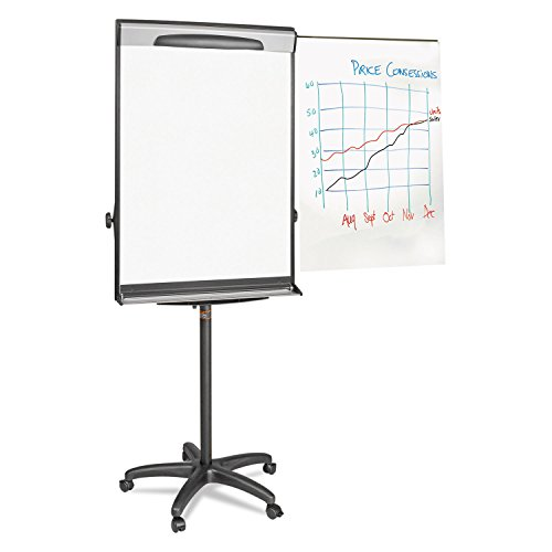 ** Tripod Extension Bar Magnetic Dry-Erase Easel, 69'' to 78'' High, Black/Silver ** by Mot2