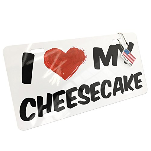 NEONBLOND Metal License Plate I Love my Cheesecake
