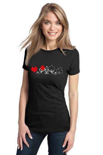 JTshirt.com-19940-CARD SUITS Ladies\' T-shirt / Poker Card Suits, Black Gambling T-shirt-B00BMMAEGK-T Shirt Design