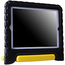HDE Shock Proof iPad Case for Kids Bumper Cover Handle Stand for Apple iPad 2 iPad 3 iPad 4 (Black & Yellow)