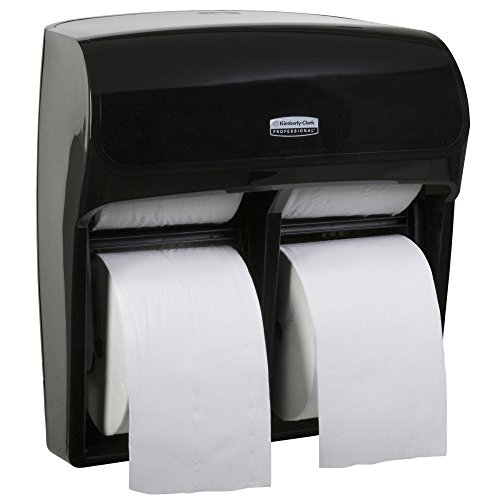 "Single Mod (Kimberly Clark Professional MOD High Capacity Single Roll Bath Tissue Dispenser (44518), Toilet Paper Dispenser for Small Rolls, 12.75"" x 11.25"" x 6.31"", Black, 1/Case)"