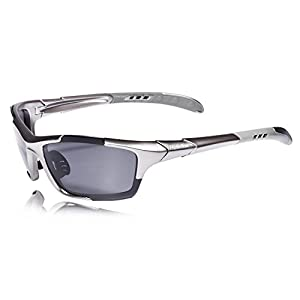 Hulislem Style 70mm Sport Polarized Sunglasses -Case Color May Vary Women Sports for Men