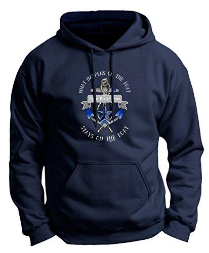 Custom Boat Shirt Custom Boat Decals Personalized Boat Name Custom Made Funny Nautical Premium Hoodie Sweatshirt Medium Navy