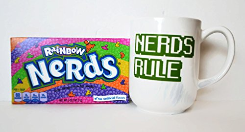 Nerds Rule Coffee Mug and Candy Bundle - 2 Items: 1 Nerds...