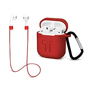 Amazon.com: Airpods Protective case with Strap Silicone