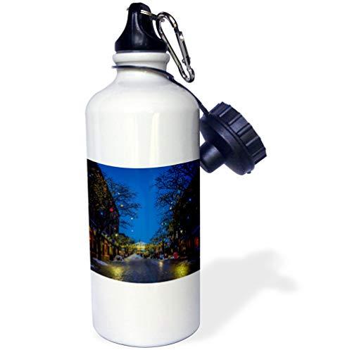 3dRose Edmond Hogge Jr - Countrys - Church Street Burlington Vermont - 21 oz Sports Water Bottle (wb_214797_1) (Church Street Burlington)