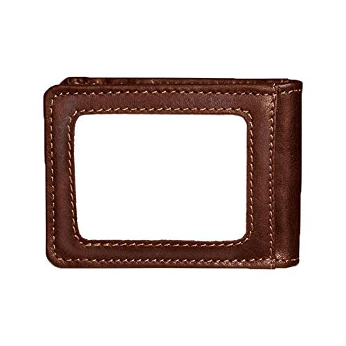 Jack Georges Voyager Small Bi-Fold with Money Clip - Brown