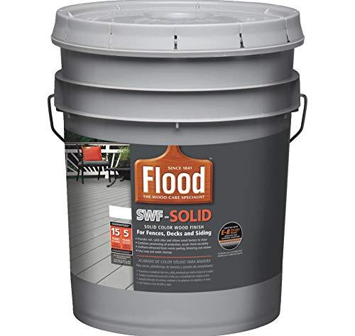 Flood Solid Color Stain - Flood 14020 Solid Color Wood Finish 5 Gal - Pastel Base